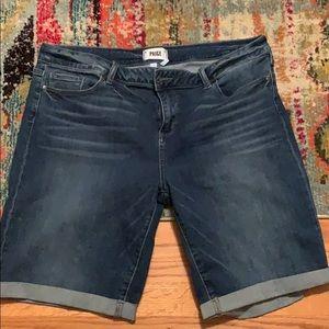 Paige Mid Rise Jean Shorts 34